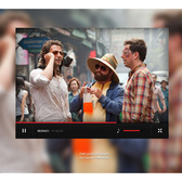 Minimal Style YouTube Video Player PSD