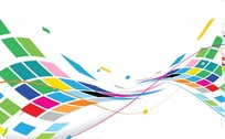 Abstract Wavy Design Colorful Background
