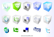 3D Web2.0 Icons by Mao (15 Icons)