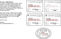 Collection Of Passport Stamps (feaux)