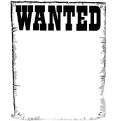 Worn Paper WANTED Poster Background PSD