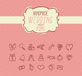 19 models playful hand-painted wedding icon