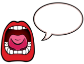 Open Mouth with Speech Bubble