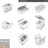 Blank Boxes And Other Vector Goods