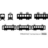 ELECTRIC TRAMS SILHOUETTES VECTOR.eps