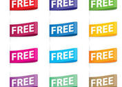 Colorful Free Tag Vectors