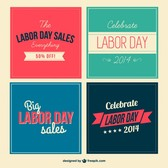 Labor day vector set