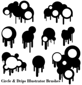 Circles And Drips Illustrator Brushes Free