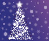 Free Abstract Sparkle Christmas Tree