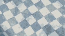 Flat checker pattern in blue and white