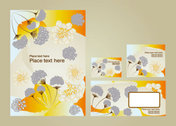 Exquisite pattern business card template