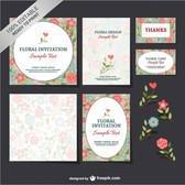 Free floral mock-up set