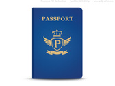 Universal blue passport, PSD template