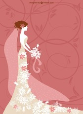 Fashionable wedding card