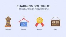 5 Quaint Boutique Icons Set