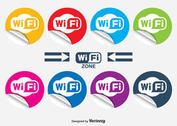 WiFi Curled Stickers