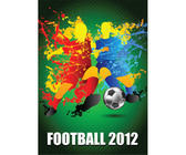 Football Players Splash With A Soccer Ball Vector Art Background Champion