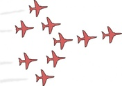 Airplanes Flight Formation