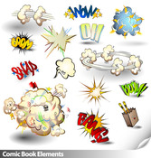 Cartoon Vector Elements Common To The Material