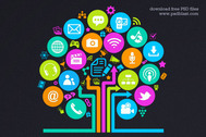 Social Media Tree Icon (PSD)