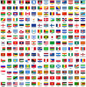 Plane Countries In The World The National Flag And Regional Flag
