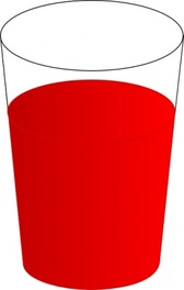 Drinking Glass, With Red Punch