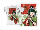 Japanese Geisha T Shirt Template