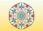 Round Floral Graphics
