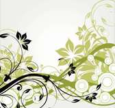 Swirling Long Simplistic Abstract Floral Branches