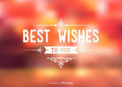 Free Best Wishes Typography Background