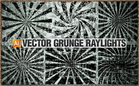 6 vectores grunge raylights