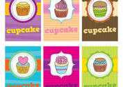 Cupcake Vector Cards
