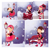 Snowflake theme (South Korea iClickart Four Seasons cute gir