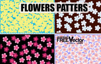 Free Art Vector Flowers Patterns