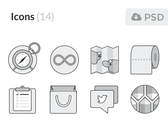 [Freebie] Monochromatic Flat UI Icons