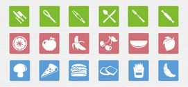 78 Incredible Food Theme Flat Icons Pack PSD