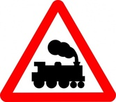 Train Road Signs