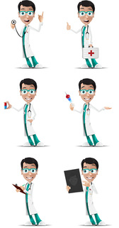 Doctor Vector personaje en 6 Poses