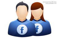 Facebook user icon, twitter avatar graphic, deviantart profile icon PSD