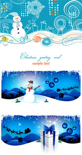 Christmas Cartoon Background-Vector Graphic