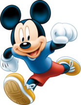 Jogging Running Mickey PSD