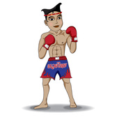 Vector Illustration of Thai Boxing