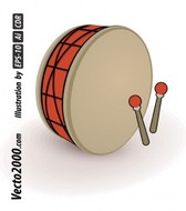 Simple Drum Vector Best for Ramadan or Eid Element Designs