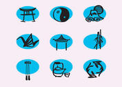 Vector Chinese Line Icons