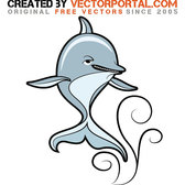 DOLPHIN STOCK VECTOR GRAPHICS.eps