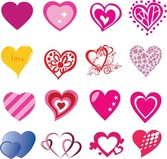 16 Free Heart Shaped Vectors for Valentine's Day
