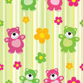 Cartoon bear pattern