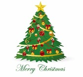 Christmas Tree Vector Illustration 3