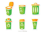 Garbage Icons Vector Pack