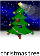 Christmas tree recolored
